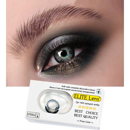 Цветные линзы ELITE Lens «Грэй узор» на светлых глазках