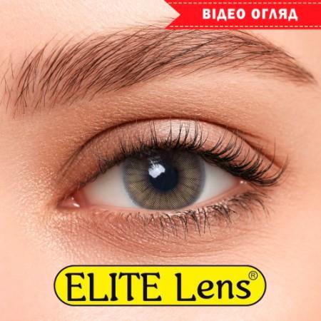 Цветные линзы ELITE Lens «Ice Браун» на светлых глазках