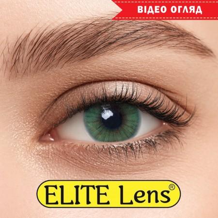 Цветные линзы ELITE Lens «Ice Грин» на светлых глазках