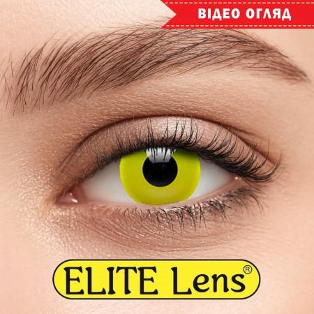 Цветные линзы ELITE Lens модель  «Елоу»