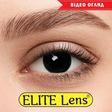 Цветные линзы ELITE Lens модель «Фуллблэк» мини-склеры