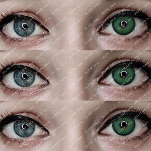 Натуральные зеленые   линзы «Милк Спринг»